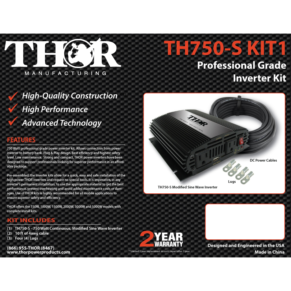 Th750 S Kit1 Thor Manufacturing Sine Wave Design Modified Code For Download
